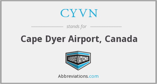 CYVN - Cape Dyer Airport, Canada