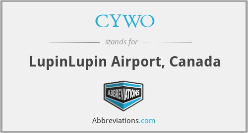 CYWO - LupinLupin Airport, Canada