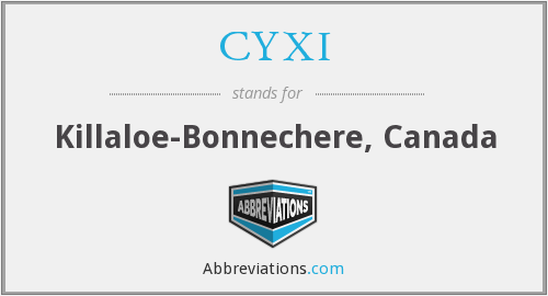 CYXI - Killaloe-Bonnechere, Canada