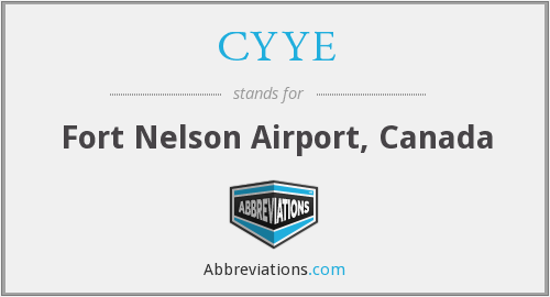 CYYE - Fort Nelson Airport, Canada