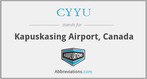 CYYU - Kapuskasing Airport, Canada