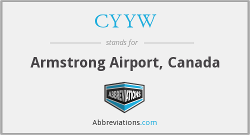 CYYW - Armstrong Airport, Canada