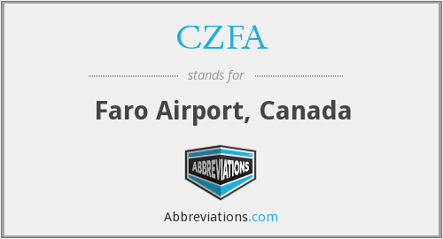 CZFA - Faro Airport, Canada