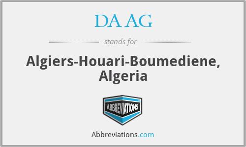 DAAG - Algiers-Houari-Boumediene, Algeria