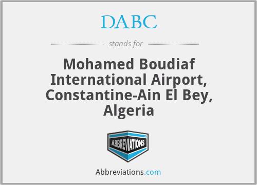 DABC - Constantine-Ain El Bey / Moham, Algeria