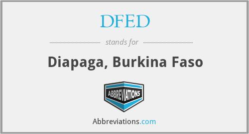 DFED - Diapaga, Burkina Faso