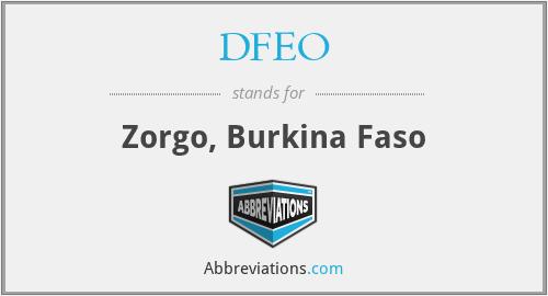 DFEO - Zorgo, Burkina Faso