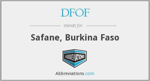 DFOF - Safane, Burkina Faso