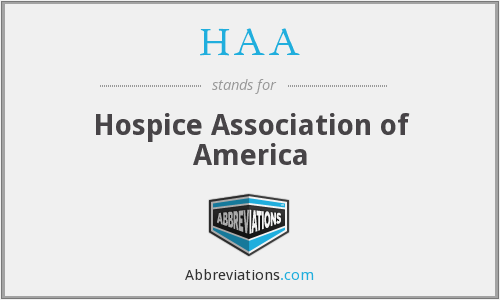 What does HAA stand for?