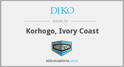 What does DIKO stand for?