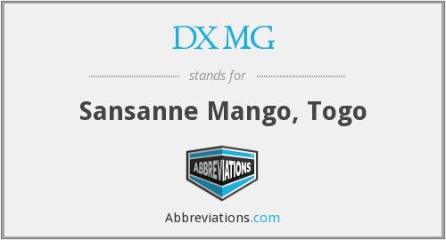 What does DXMG stand for?