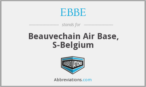 EBBE - Beauvechain Air Base, S-Belgium