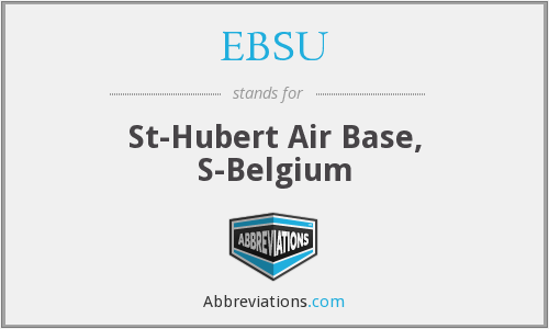 EBSU - St-Hubert Air Base, S-Belgium