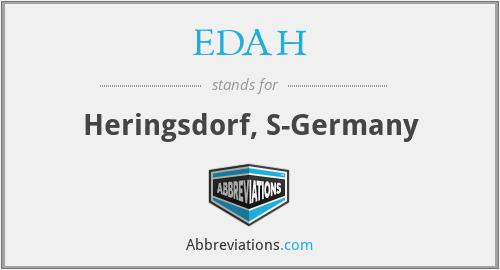 EDAH - Heringsdorf, S-Germany