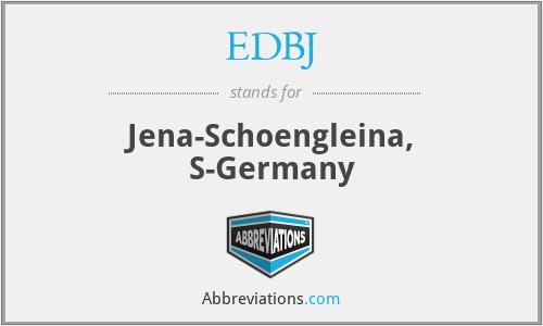 EDBJ - Jena-Schoengleina, S-Germany