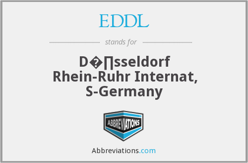 EDDL - D�∏sseldorf Rhein-Ruhr Internat, S-Germany