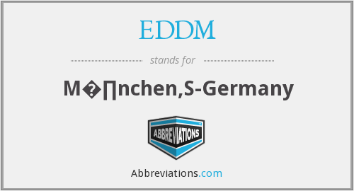 EDDM - M�∏nchen,S-Germany