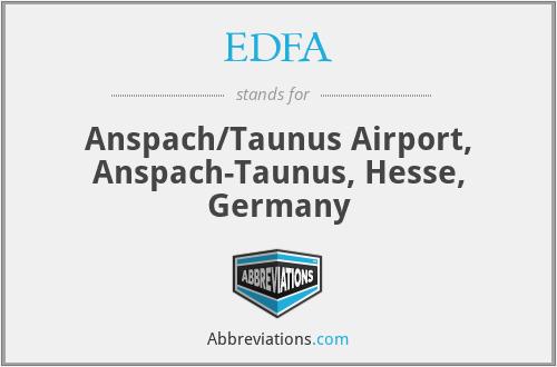 EDFA - Anspach/Taunus Airport, Anspach-Taunus, Hesse, Germany