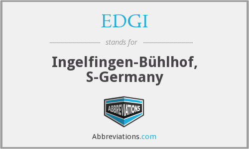 EDGI - Ingelfingen-Bühlhof, S-Germany