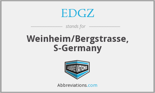 EDGZ - Weinheim/Bergstrasse, S-Germany