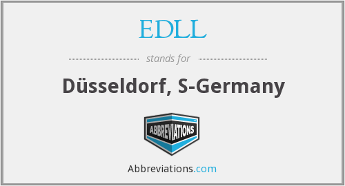 EDLL - D√Össeldorf, S-Germany