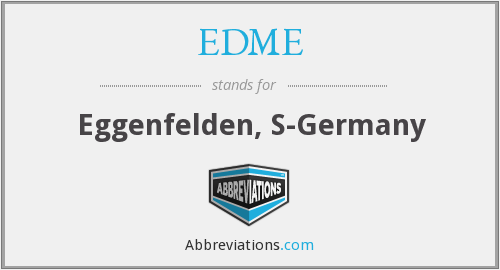 What does EDME stand for?
