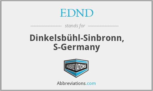 EDND - Dinkelsb√Öhl-Sinbronn, S-Germany