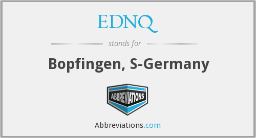 What does EDNQ stand for?