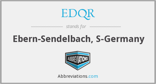EDQR - Ebern-Sendelbach, S-Germany