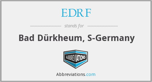 What does EDRF stand for?