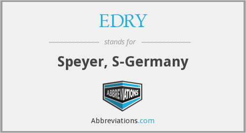 EDRY - Speyer, S-Germany
