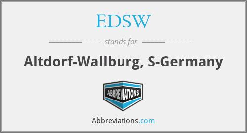 EDSW - Altdorf-Wallburg, S-Germany
