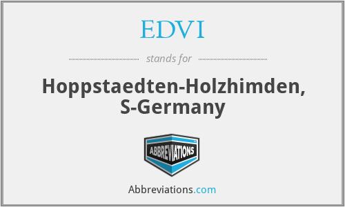 EDVI - Hoppstaedten-Holzhimden, S-Germany