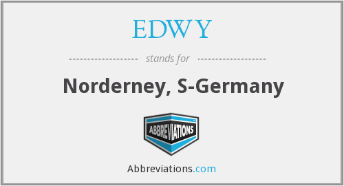 EDWY - Norderney, S-Germany
