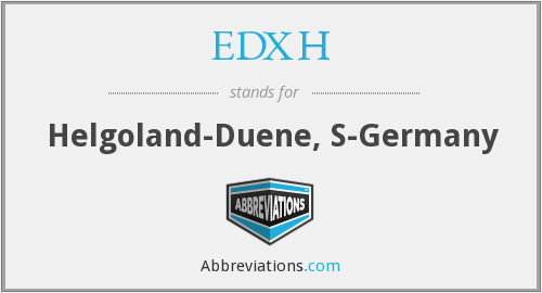 What does EDXH stand for?