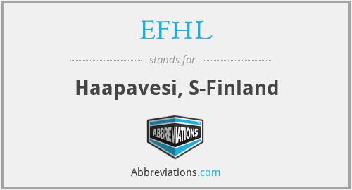 EFHL - Haapavesi, S-Finland