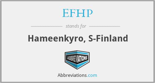 EFHP - Hameenkyro, S-Finland