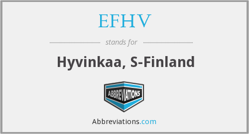 What does EFHV stand for?