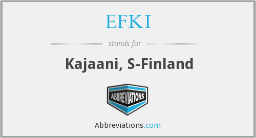 What does EFKI stand for?