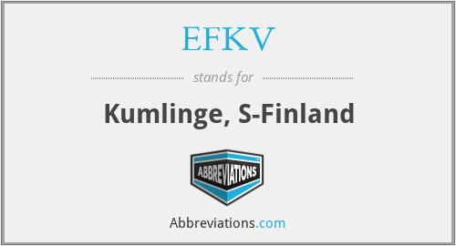 EFKV - Kumlinge, S-Finland