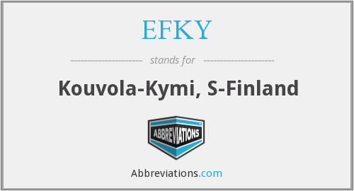 What does EFKY stand for?