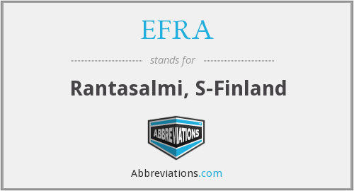 What does EFRA stand for?