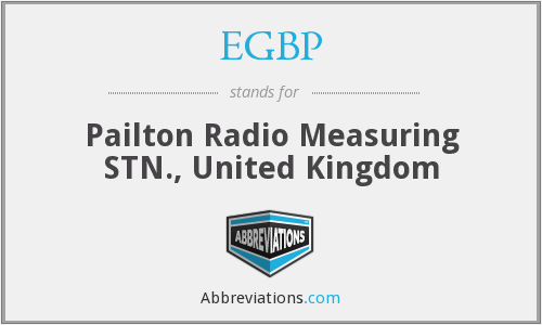 EGBP - Pailton Radio Measuring STN., United Kingdom