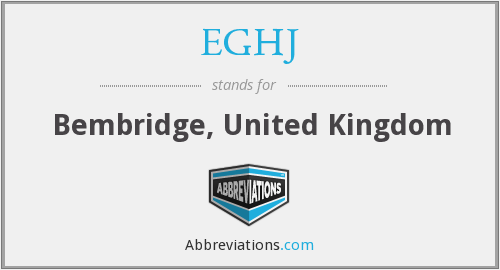 What does EGHJ stand for?