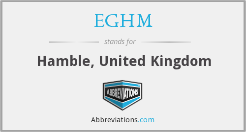 What does EGHM stand for?
