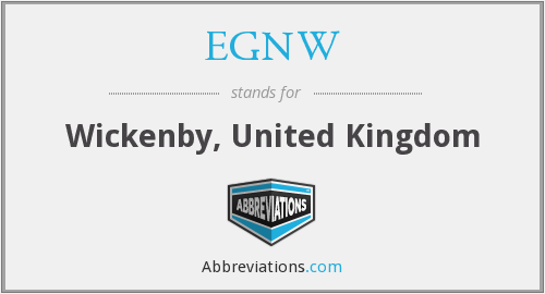EGNW - Wickenby, United Kingdom