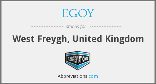 EGOY - West Freygh, United Kingdom