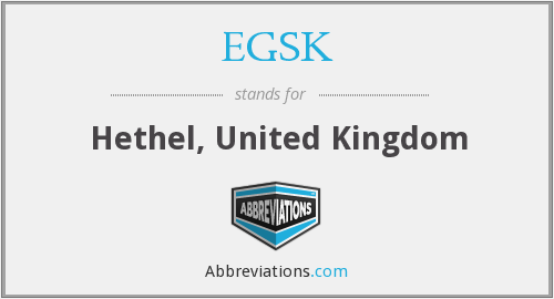 What does EGSK stand for?