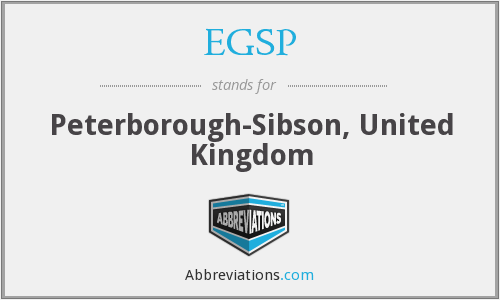 EGSP - Peterborough-Sibson, United Kingdom