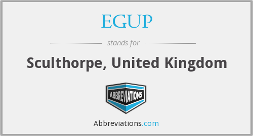 EGUP - Sculthorpe, United Kingdom
